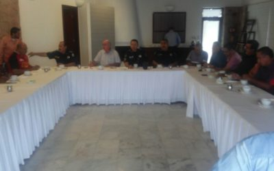 CONATRAM se reunió con Policía Federal y Centro SCT en Mazatlán, Sinaloa.